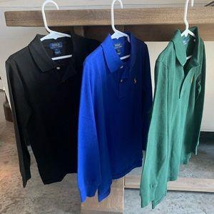 POLO Ralph Lauren - 3 long sleeve mesh polo shirts